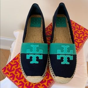 Tory Burch Weston Flat Espadrille navy/turquoise